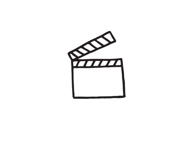 Action sharpie vector movies drawing doodle design illustration