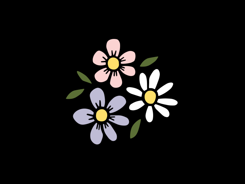 Flowers branding personal icon flowers vector design doodle drawing illustration