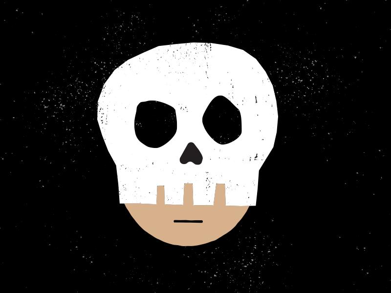 Skull Mask halloween skull art design drawing illustration