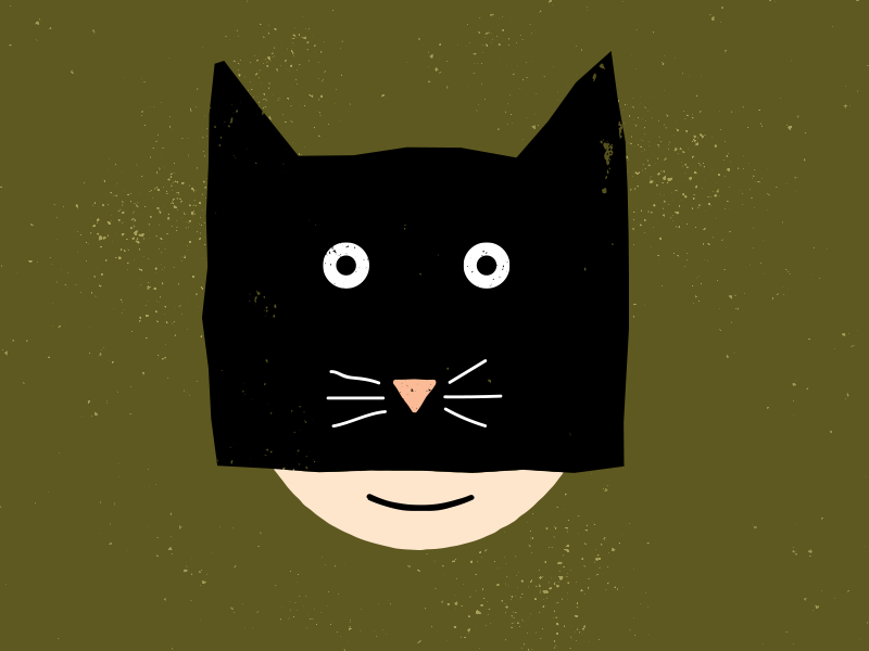 Cat Mask cat halloween vector drawing design illustration