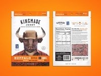 Kingmade Jerky Packaging Buffalo Style