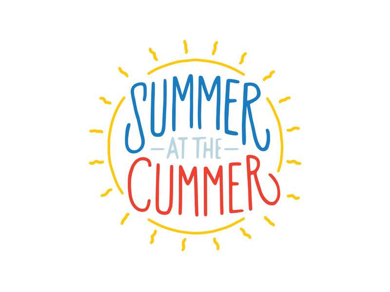 Summer At The Cummer Logo & Campaign branding type layout design design summer campaign typography logo layout illustration
