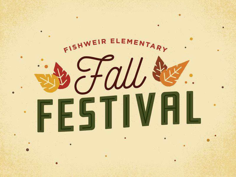Fishweir Fall Festival Logo festival fall type typography drawing design illustration logo