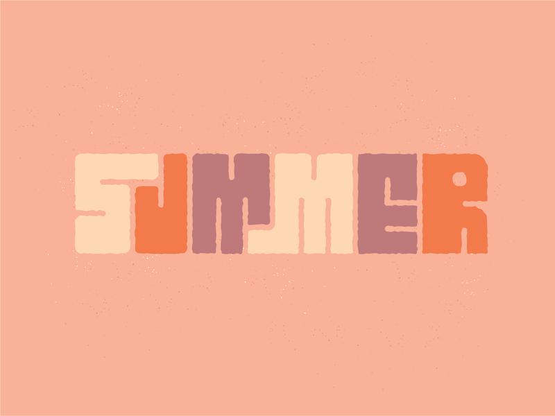 Summer Type vector summer drawing design typography illustration type