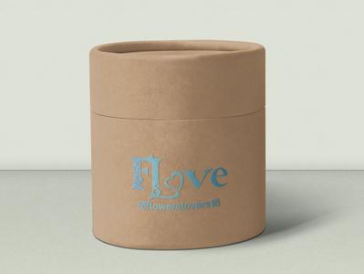 Логотип для цветочной компании упаковка vector logo typography design