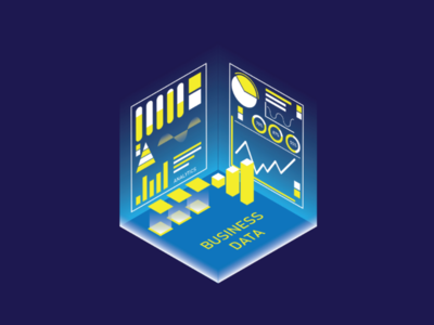 Business Isometric light analytic analytics office simple 3d vector infographic profit management business graphic illustration design isometric