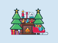 Christmas merry icons simple xmas art vector graphic design flat illustration icon christmas
