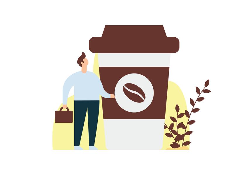 Coffe coffee imagination colorfull simple graphic art vector flat design illustration