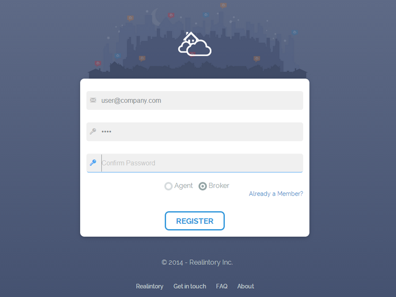 web application login page by anton bacaj