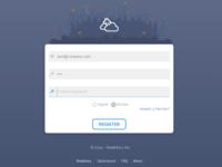 Web Application Login Page
