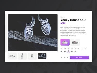 Product Page Concept - Yeezy kanye yeezy e-commerce ecommerce product shop shopping dailyui ux ui