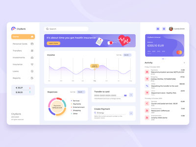 Banking Dashboard illustration ux banking finance dashboad design ui
