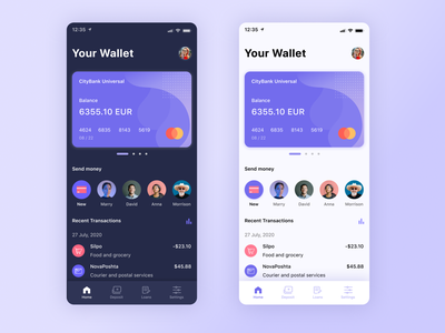 Online Banking - Finance App Concept dark light minimal web app ux ui finance design dashboad banking