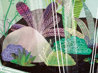 Greenery illustration watercolour watercolor mixed media digital plants terrarium