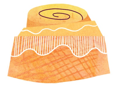 The Essentials—Orange Sweet Roll breakfast orange sweet roll illustration food