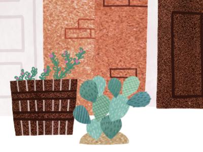 Cactus illustration watercolor watercolour digital plant cactus botany