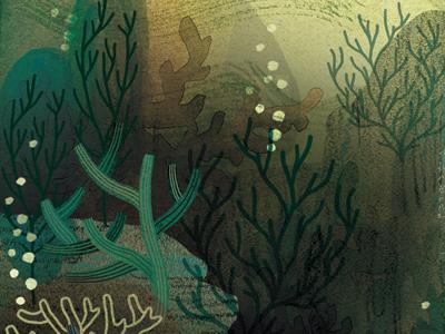 Under the Sea watercolor watercolour seaweed aquatic ocean underwater