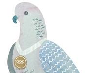 Pigeon makes the podium