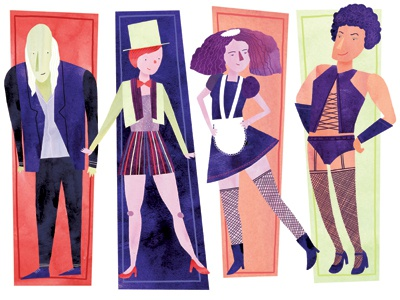 Let's do the Time Warp again illustration watercolor watercolour digital fanart rocky horror ten paces and draw musical time warp dance