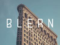 Blern Typeface