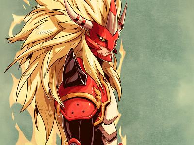Agunimon monster digimon concept art draw drawing character design comic comics comic book manga anime illustration