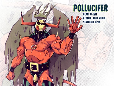 Pollucifer design concept art drawing mutant comic comics comic book manga anime illustration devil
