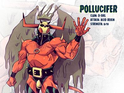 Pollucifer design concept art drawing mutant comic comics comic book manga anime illustration devil