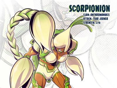 Scorpionion scorpion onion mutant sketch tmnt character design comic comics comic book manga anime illustration