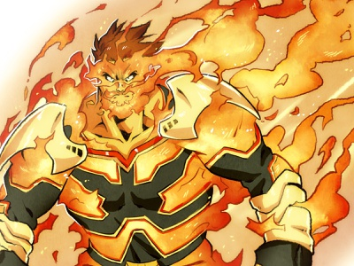 Endeavor punk concept art art sketch comic comic book illustration character design comics manga anime my hero academia endeavor