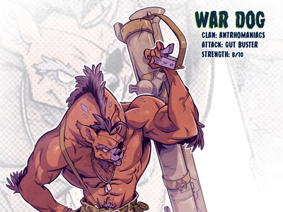 War Dog mutant sketch tmnt character design comic comics comic book manga anime illustration