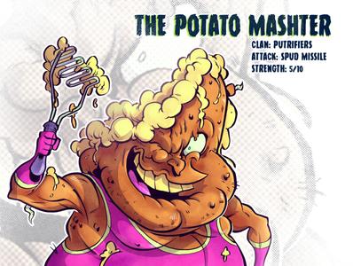 The Potato Mashter art mutant tmnt character design comic comics comic book manga anime illustration