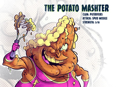 The Potato Mashter art mutant tmnt character design comic comics comic book manga anime illustration