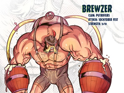 Brewzer brew beer mutant character design comic comics comic book manga anime illustration