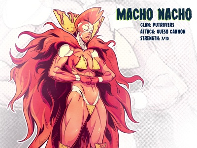 Macho Nacho 80s mutant tmnt character design comic comics comic book manga anime illustration