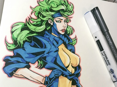 Polaris sketch character design comic comics comic book manga anime illustration marvelcomics marvel x-force x-men polaris