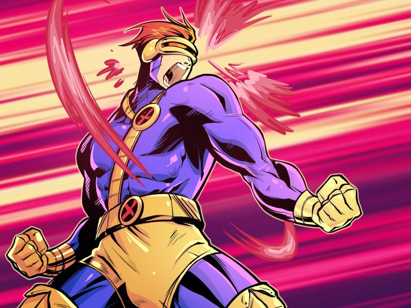 Cyclops x-men xmen cyclops drawing draw mutant character design comic comics comic book manga anime illustration