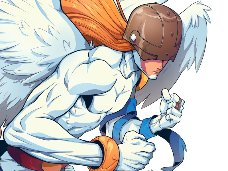 Angemon angemon digimon drawing art character design comic comics comic book manga anime illustration