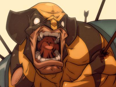The Wolverine wolvering x-men comics illustration manga anime logan
