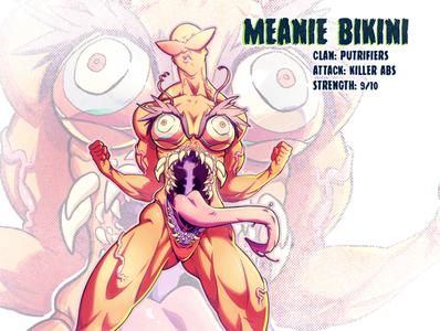 27 Meanie Bikini mutant sketch tmnt character design comic comics comic book manga anime illustration