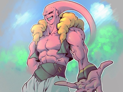 Buutenks goku buutenks buu dragonball z dbz drawing art sketch character design comic comics comic book manga anime illustration