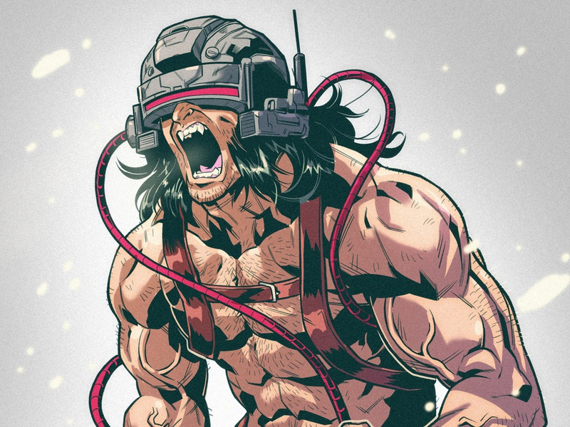Weapon X character design concept art superhero draw sketch illustrations manga anime comics x-men weapon x wolverine