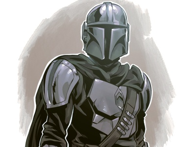 Mandalorian 80s drawing sketch character design comic illustration luke skywalker sequential art comic book comics manga anime star wars mandalorian