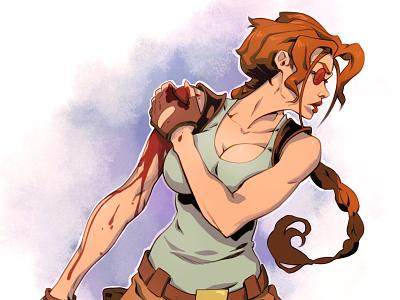 Tomb Raider video game 90s drawing art sketch character design comic illustration comic book comics manga anime lara croft tomb raider
