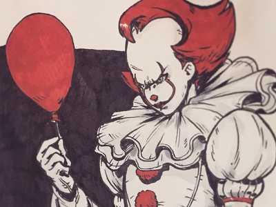 Pennywise process art stephen king pennywise it sketchbook sketches anatomy figure study anime manga illustration