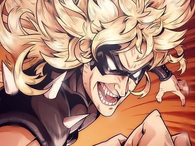Bastard Rage sketch character design comic comics comic book manga anime illustration