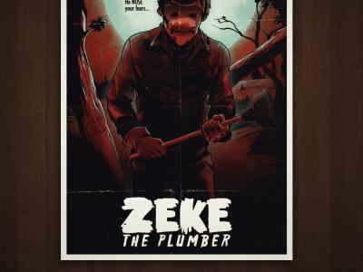 Zeke the Plumber Print salute your shorts nickelodeon zeke the plumber nostalgia slasher horror serial killer movie poster