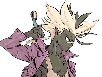 Future Skunks dragonball z trunks dbz sketch tmnt character design comic comics comic book manga anime illustration