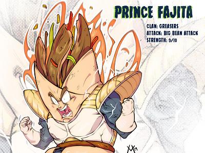 Prince Fajita super saiyan dragonball z dbz mutant sketch tmnt character design comic comics comic book manga anime illustration vegeta
