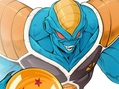 Burter comicsart superhero character design concept art draw sketch illustration comics manga anime dragon ball z dragonball z ginyu force burter