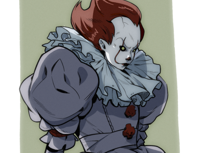 Pennywise Sketch cartoon character design comic book comics drawing ipad procreate sketch manga anime pennywise